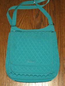 Vera Bradley womens mail handbag 15028 quilted shoulder bag aqua crossbody