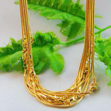 5Pcs Gold Plated Lobster Clasp Snake Chain Necklace 43cm Jewellery Making DIY