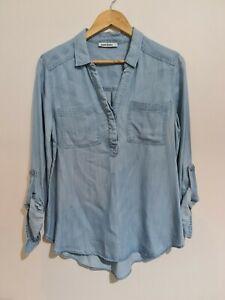 Just Jeans Denim Shirt Sz 10