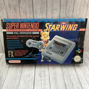 Boxed Super Nintendo Entertainment System SNES Console - Starwing Edition