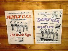 1963 The Beach Boys 2 Early Billboard Full Page Trade Ads Surfin Usa