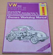 VW Beetle 1600 96.7c Sports Bug Super Beetle 1970-1974 Haynes Reparaturanleitung
