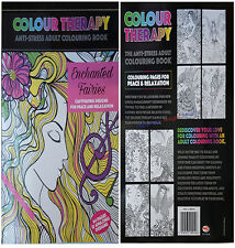 NEW EDITION ADULT ANTI-STRESS COLOUR THERAPY COLOURING BOOK ENCHANTED FAIRIES