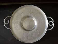 """Vintage Farber and Shlevin Hand Wrought 1464 Heavy Serving Platter Tray 14"""""""