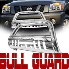 Stainless Chrome Bull Bar Push Bumper Grill Grille Guard Fit 05+ Frontier/Xterra