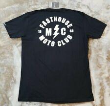 FASTHOUSE MOTO CLUB Tee Shirt Black Motocross MX T-Shirt Size X-Large 805