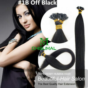 """14""""- 30inch Pre Bonded Flat Tip Keratin Remy Human Hair Extensions 1G thick hair"""