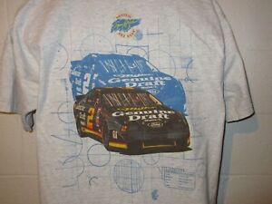 Vintage 90s Nascar Rusty Wallace Miller Genuine Draft T-Shirt XL