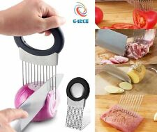 Onion Tomato Vegetable Slicer Cutting Aid Guide Holder Egg Slicing Cutter Gadget