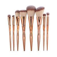 GUJHUI Ensemble de 8 Pinceaux de Maquillage, Pinceau de Fondation, Outils d E6V5