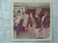 Vintage 1970s Photo Unusual Hippie Punk Jiving in Sunglasses at Airport 783