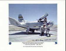 Usaf Test Pilot Peter Hoag Autograph,Hand Signed