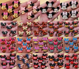 DIY 4/16pcs Cute Mickey's DIY Flat Back Resin Buttons Scrapbooking/crafts
