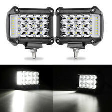 """2PCS 4"""" in 57W Side LED Work Light Car SUV Driving Lamp Offroad Light Bar Combo"""