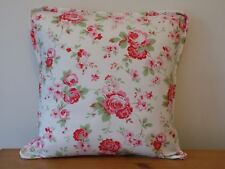 """Cath Kidston 100% Cotton White 'Rosali' Floral Cushion Cover 16"""" Piped Handmade"""