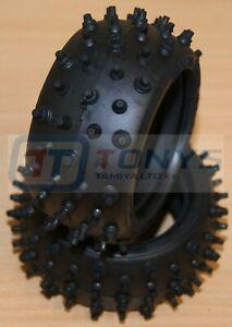 Tamiya Egress/Astute/Avante Black, 9805536/19805536/53040 Rear Tyres/Tires, NEW
