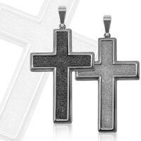 Kettenanhänger Anhänger Kreuz Kruzifix Glitzer Edelstahl für Kette Königskette