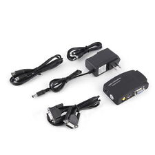 TV RCA Composite S-Video AV In To PC VGA LCD Out Converter Adapter Box US W#