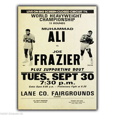 METAL SIGN WALL PLAQUE Muhammad Ali vs. Joe Frazier Vintage poster picture print