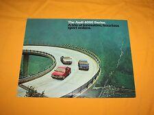 AUDI 4000 Series 1981 PROSPEKT Brochure catalog depliant prospetto cartella 80