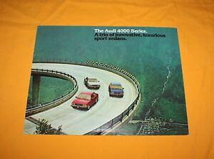 Audi 4000 Series 1981 Prospekt Brochure Catalog Depliant Prospetto Folder 80