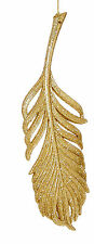3 x Gold Feather Christmas Tree Hanging Decorations Wedding Hanger Decorations