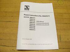 Sachs Motorcycle Engine Repair Manual 100 125 Penton Monark DKW