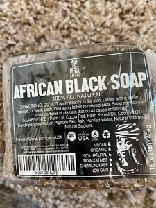 Raw African Black Soap Organic 2 16oz Bar 100% Pure Unrefined Natural From Ghana