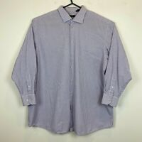 Hugo Boss Mens Purple Check Long Sleeve Comfort Fit Shirt