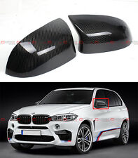 FOR 2015-18 BMW F85 X5M F86 X6M CARBON FIBER SIDE MIRROR COVER CAPS OVERLAY PAIR
