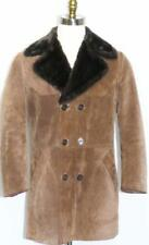 """MADE In ITALY LEATHER OVER COAT Men Hunting Western Winter Jacket Eu 50 44"""" M"""
