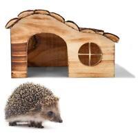 1XHedgehog House Habitat Nesting Hibernation Box Hogitat Wooden Nest Shelter HOT