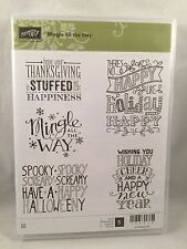 MINGLE ALL THE WAY Stampin Up New Clear Thanksgiving Christmas Halloween