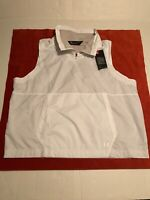 Under Armour Women's Pullover Running Vest White Loose Size XL NWT Zip Collar