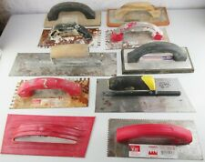 Lot Of 10 Trowels Floats Concrete Masonry Tile Finishing Hand Tools Pre-Owned