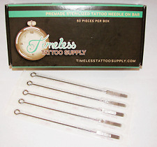 50 Tattoo Needles Professional 9 Mag Flat Bug Pin Shader sterilized Disposable