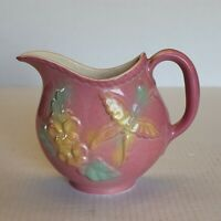 "Vintage McCoy Pocket Planter Wall Hanging Flower Butterfly Vase Pink 5.5"" Tall"