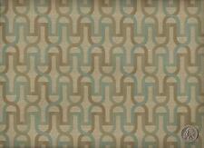 CF Stinson Balustrade Agave Contemporary Geometric Tans Aquas Upholstery Fabric