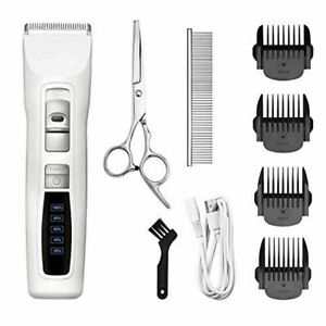Bousnic Dog Clippers 2-Speed Cordless Pet Hair Grooming Clippers Kit Professiona