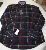 Men's Tommy Hilfiger Long Sleeve shirt M med Classic Fit 78B8836 409 black navy