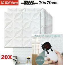 20x 3D WANDPANEELE POLYSTYROL DECKENPANEELE PLATTEN PANEELE DIAMANT MOTIVE 70X70