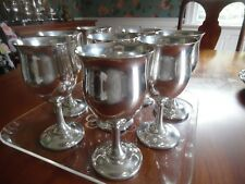 12 Reed and Barton Sterling Queen Elizabeth Water Goblets H120