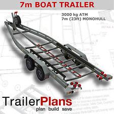 Trailer Plans - BOAT TRAILER PLANS - 7m(21ft) Monohull - PLANS ON CD-ROM