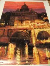 """""""Sunset Over St Peter's By Howard Behrens hand signed &embellished"""