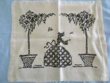 Antique Hand Stitched Linen Pillow Cover