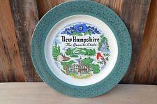 "Vintage New Hampshire State Souvenir Decorative Plate Homer Laughlin 10"""