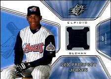 """Elpidio Guzman 2001 01 Upper Deck SPx """"Jersey"""" Rookie RC #129 Anahiem Angels"""
