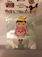 Disney Jumbo Scratch & Sniff Stickers Pinochio, Cheshire Cat & Olaf New