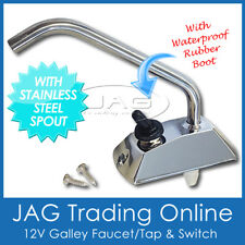12V ELECTRIC FAUCET TAP & SWITCH for Water Galley Pump-Boat/Caravan/Motorhome/RV