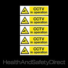CCTV IN OPERATION - *PACK OF 5* - SECURITY WINDOW STICKERS - ALL SIZES! (MISC2R)